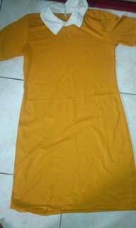 Dress orange cute