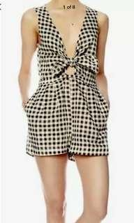 Ladies ZIMMERMANN GINGHAM Playsuit.  Size 1. As New $450