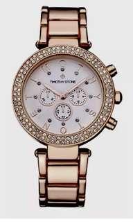 Ladies TIMOTHY STONE Desire Rose Gold Swarovski Watch. New $230