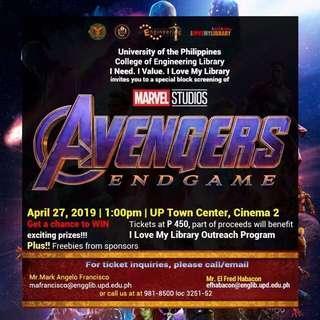 Avengers movie ticket