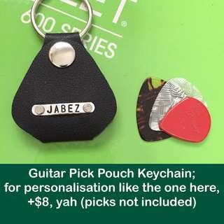 🚚 Guitar pick pouch keychain (faux leather; can be personalised with extra charge) [children teacher birthday graduation Christmas Raya guitarist gifts uncle.anthony uncle anthony uac]  FOR MORE PHOTOS & DETAILS, GO HERE: 👉 http://carousell.com/p/124696156