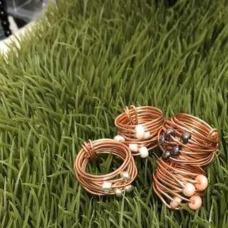 INCIDENTAL COPPER WIRE WRAP RING