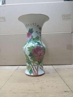 民國富貴白頭瓷器花瓶