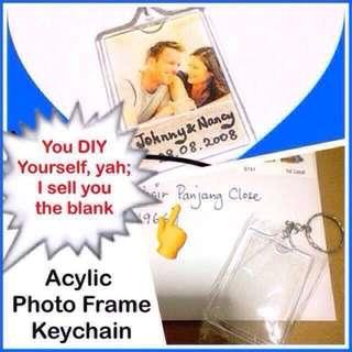 🚚 Photo Frame Keychain (sold as blank for DIY) - clear acrylic rectangle version [do your own customisation personalisation gift; uncle anthony uac ] FOR MORE PICS & DETAILS, 👉 http://carousell.com/p/94304321