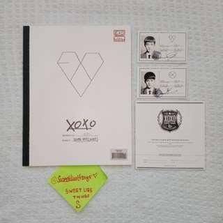 ALBUM EXO XOXO KOREAN VERSION FULLSET D.O + CHEN PHOTOCARD