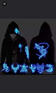 (2件/2pieces) 夜光鬼舞步上衣外衣 (seriestwo) (jacket luminous)