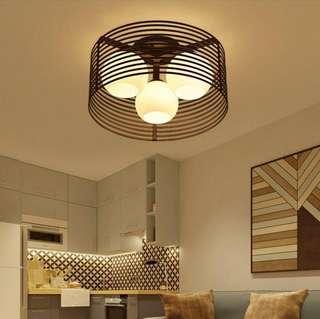Black Industrial ceiling lights, E27 lightbulbs