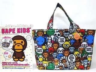 Bape Baby Milo 防水 兩用 索繩 媽咪奶粉袋 單膊/手提袋(Tote Bag)~ 🇯🇵日本附錄雜誌袋