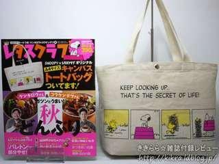 Snoopy 可愛四格漫畫 兩邊不同圖案 單膊/ 手挽袋 (Tote Bag) ~ 🇯🇵日本雜誌附錄袋