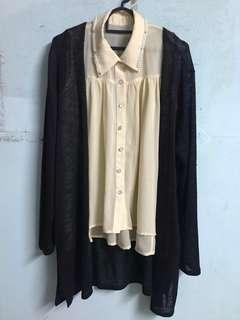 Outers H&M and Chiffon Top