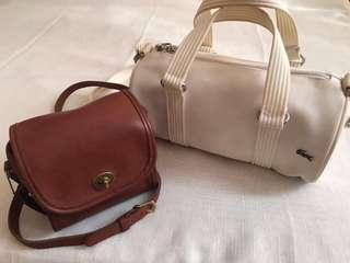 Authentic Coach and Lacoste bags