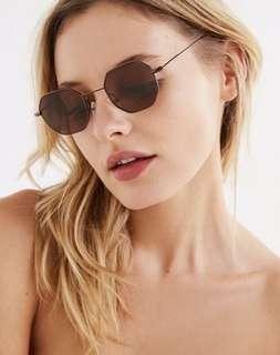 Urban Outfitters Brown Groovy Sunglasses