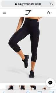 Gymshark Cropped Energy Seamless Leggings Black Small