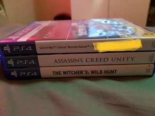 For Sale: PS4 Games