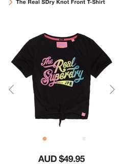 Superdry front knot t-shirt new with tag