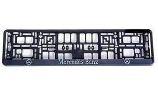 Black 3D Logo Car License Plate Holders for Mercedes/Audi/BMW/Volvo/Alfa Romeo/KIA/Volkswagen/Seat/Skoda/Citroen/Renault/Hyundai/Opel/Peugeot/Mazda/Honda/VW GTI . Product from Europe.