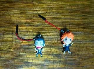 Haikyuu earphone dust plug (hinata shoyo and Tanaka)