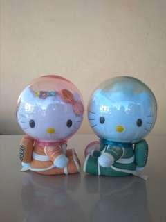 Boneka Hello Kitty Space Millenium Wedding Sanrio Original