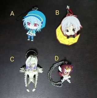 Anime Keychain/rubber strap