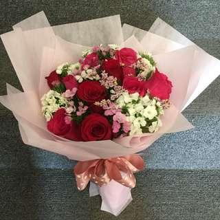 Available! Roses Bouquet-Valentine's Roses-Teddy Bear