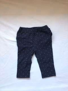 Gap Blue Dotted Leggings with Ruffles