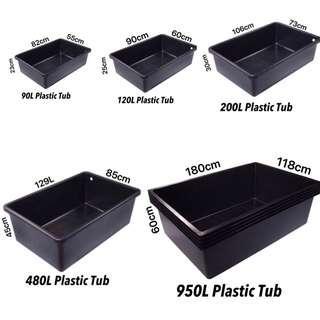 🚚 90L to 950L Aquarium water Storage Box Plastics