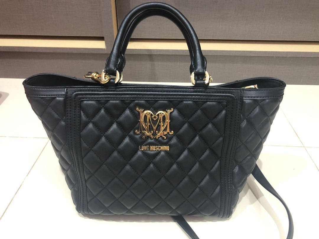 b30144d8b429 100% authentic love moschino quilt bag tote (not Chanel , michael ...
