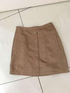 Suede Skirt #MFEB20