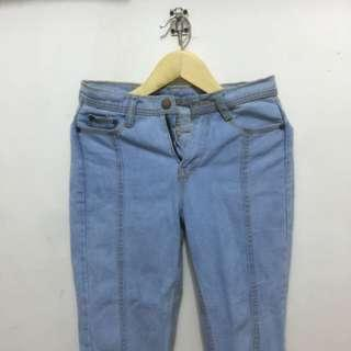 celana pull and bear light jeans p&b