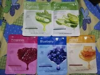 Korean face mask 10 pcs for 100