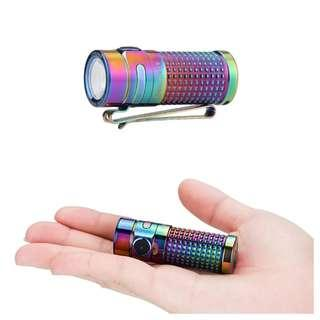 (Free Delivery_1,000 Lumens) Olight S1R II Spring Titanium Mini Rechargeable LED Flashlight_USB Rechargeable