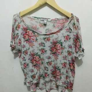 forever 21 tshirt/floral tee
