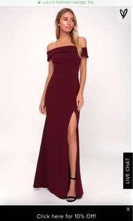 LULUS xs burgundy dress