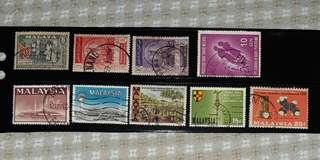 Stamps of old Malaysia (1957 until 1970)
