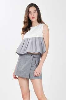 AYLIE PLEATED BABYDOLL TOP IN WHITE