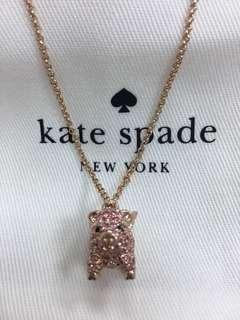 『2月份購入』-美國正貨-Kate spade玫瑰金項鍊(K10材質)