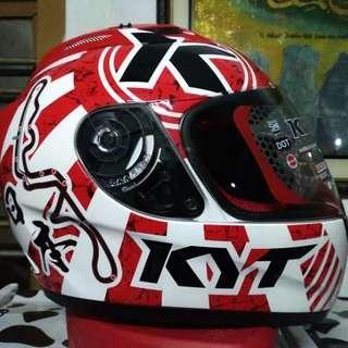 Helm KYT RC 7 white red full face NEW