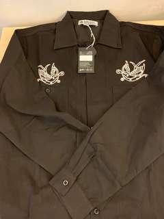 台灣街頭品牌 B-SIDE 長袖繡花襯衫