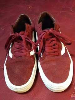 Vans maroon