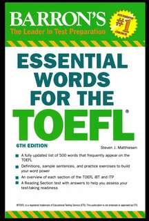 [CD - Ebook] Barron's Essential Word For The TOEFL 6th Edition