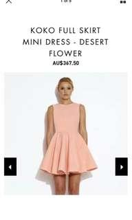 AQ/AQ party hot peach fit and flare dress