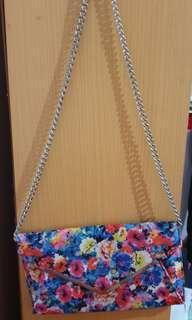 Sling slim bag cantik colorful bunga2