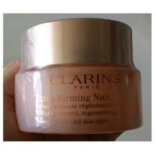 Brand New Clarins Extra-Firming Nuit Wrinkle Control Regenerating Night Silky Cream