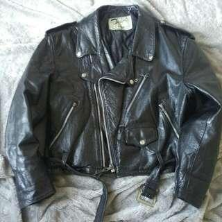 Leather jacket down by schott made in usa