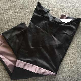 Authentic Culte Femme Black Silk Cocktail Dress