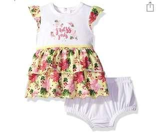 🚚 BN Guess Baby Girl Summer Floral Dress With Diaper Cover 12mths!