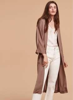 ARITZIA DURANTE ROSE JACKET ROBE