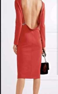 Tom Ford Red Dress Sz 38