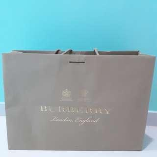 Large Burberry Paper Bag