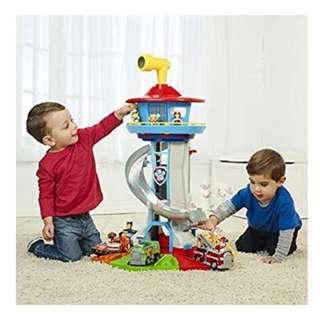 🚚 (Pre-Order) Paw Patrol Lookout Tower with Exclusive Vehicle, Rotating Periscope and Lights and Sounds